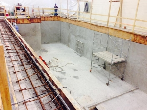 HCM Shotcrete - UTAS Landing Gear Manufacturing Facility, Oakville – Machine Pit Foundation Walls