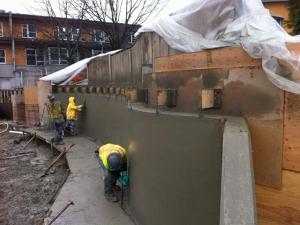 HCM Shotcrete - Radial wall finish