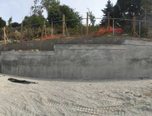 VW Autohaus Permanent Retaining Wall